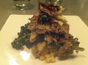 Pumpkin seed crusted seitan at Plant Restaurant