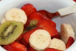 You get the most strawberry nutrition by simply eating them whole and raw, rather than cooking. I love them chopped up with their best friends, bananas and kiwis.