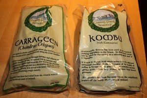 Carrageen is a common sea vegetable used to thicken foods, and kombu helps to soften and flavor foods.