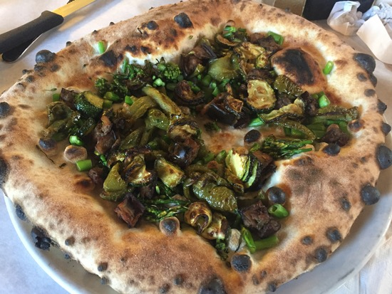 Bella Napoli vegetarian pizza without cheese