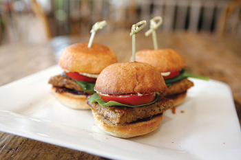 Bourbon tempeh sliders from Sexy Vegan, photo by Hilary McHone.