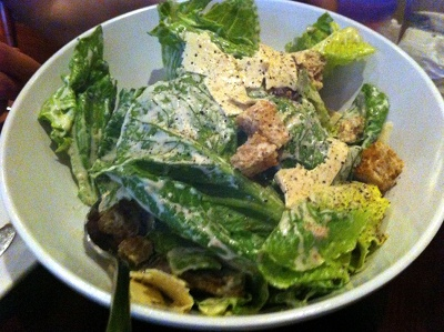 Cafe Blossom Caesar Salad with Shaved Vegan Mozzarella