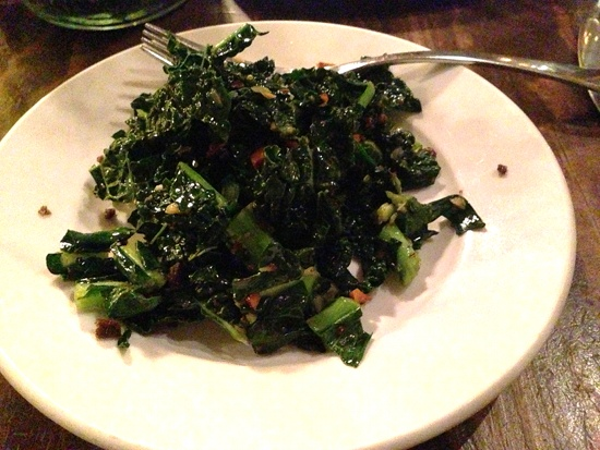 Charred kale from Plum Bistro in Seattle