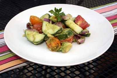 Cucumber Tomato Salad from my eBook Vegan Cooking for Beginners