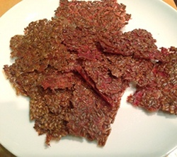 Dehydrated Raw Flax Crackers