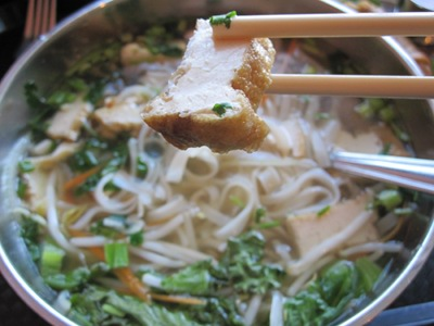 Heart and Soy Vegan Pho Soup with Homemade Tofu