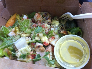 Native Foods Azteca Salad with Mango Lime Vinaigrette, to go.