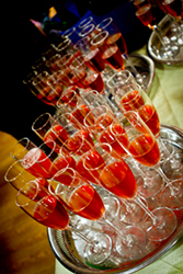 Pink Champagne for our Vegan Wedding Reception