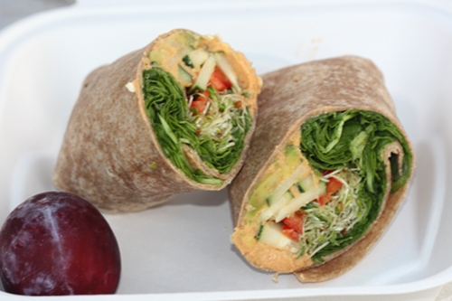 Raw and Juicy Hummus Wrap