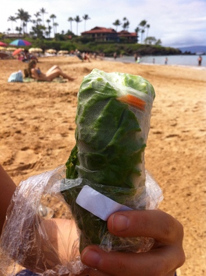 The raw summer roll from Joy's Place in Kihei