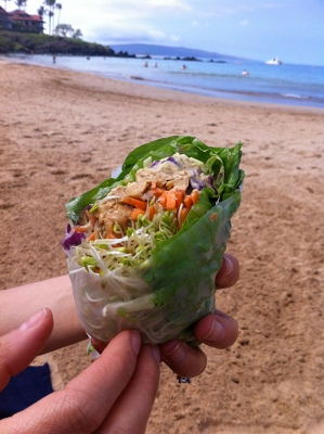 We loved the The Indo Crunch Wrap from Joy's Place in Maui.