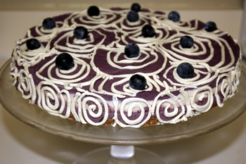 Raw Blueberry Vegan Cake