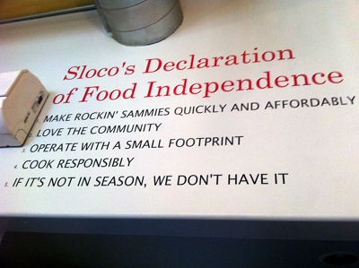 Sloco Nashville's Declaration of Food Independence