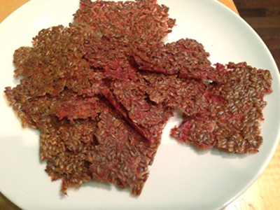 Salsa Flavored Raw Flax Crackers