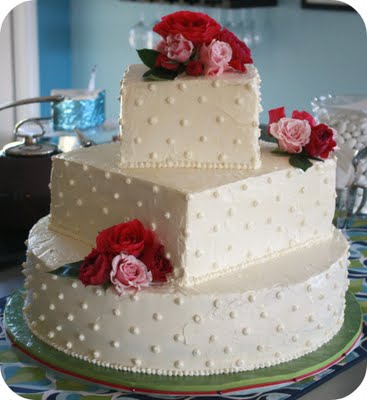 Buttercream Frosted Wedding Cakes Three Tier Vegan Wedding Cake