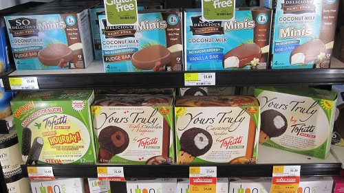 Tofutti Novelty Cones (and above is the So Delicious Coconut Milk Novelties)