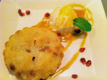 My personal apple pie with vanilla coconut milk ice cream, Plant Restaurant Asheville