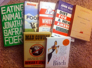 A few of my favorite vegan books.