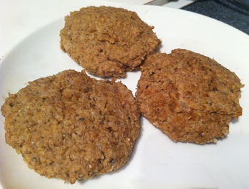Chef Chloe's vegan burger patties, uncooked.