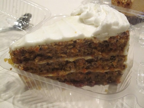 Vegan carrot cake: three layers of the perfect amount of spice and a light vegan cream cheese frosting.