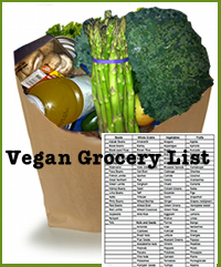 Get your vegan grocery list now