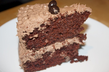Inside the Vegan Mocha Chip Cake
