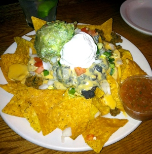Vegan Nachos at the Chicago Diner