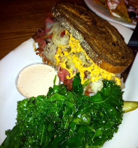 A different vegan reuben at The Chicago Diner