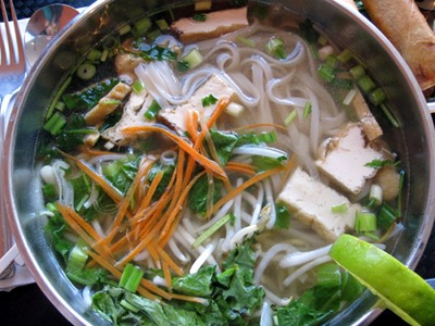 Vegan Vietnamese Pho Noodle Soup at Heart and Soy in Louisville, KY