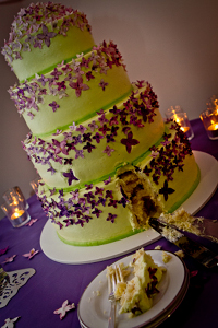 Our gorgeous Vegan Wedding Cake from Sticky Fingers Bakery Washington, D.C.
