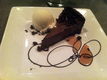 Peanut butter chocolate mousse pie from Plant Restaurant in Asheville, NC