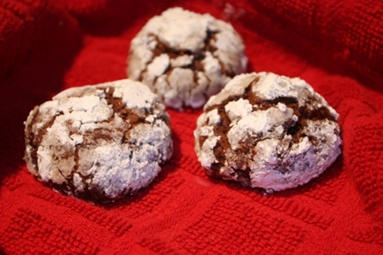 Vegan Christmas Cookies Chocolate Crinkle Cookies