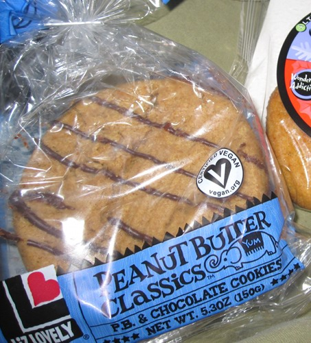 Liz Lovely Vegan Cookies in Their Peanut Butter Classics.