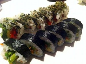 Sansei Kapalua's Paia Roll and Grilled Veggie Roll