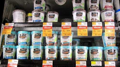 So Delicious brand coconut milk ice cream at Whole Foods.