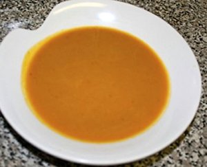 Vegan butternut squash soup is a perfect starter course for a Thanksgiving celebration.
