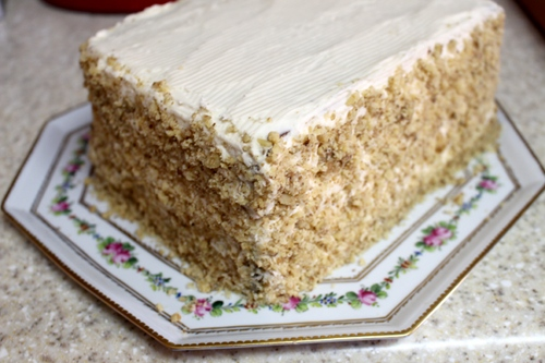Carrot Cake turned vegan, with cream cheese frosting.